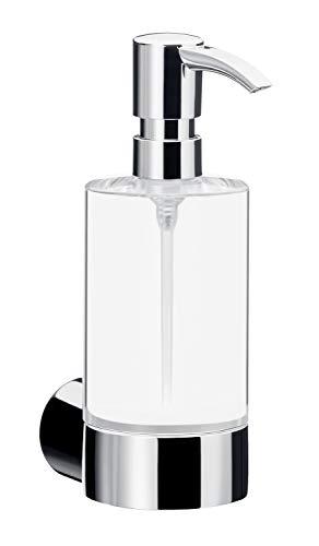 Emco Fino Seifenspender für Flüssigseifen, Kristallglas/chrom, Wandseifenspender, Flüssigseifenspender - 842100101