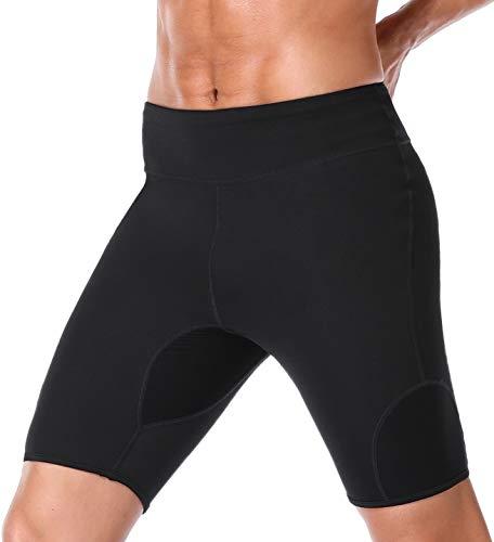 TELALEO Sauna Sweat Shorts for Weight Loss Body Waist Thigh Trainer Butt Lifter Fat Burner Slimming Pants-L