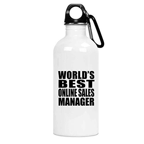 Worlds Best Online Sales Manager - Water Bottle Botella de Agua, Acero Inoxidable - Regalo para Cumpleaños, Aniversario, Día de Navidad o Día de Acción de Gracias