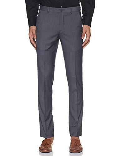 John Miller Men's Slim Fit Formal Trousers (PJNML-TRO-0014952_Grey_35)