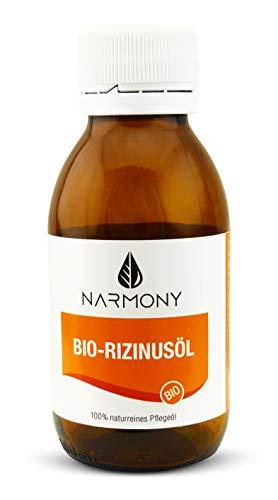 Bio-Rizinusöl - 100{8bb1b5520e62d5db20845f2afc49d310a3a3378840e8d901eb59562a08aeb1b4} naturrein und kaltgepresst - 100ml - vegan - kontrolliert biologischer Anbau - für Gesicht, Haut, Haar und Körperpflege | Biorizinusöl in Glasflasche