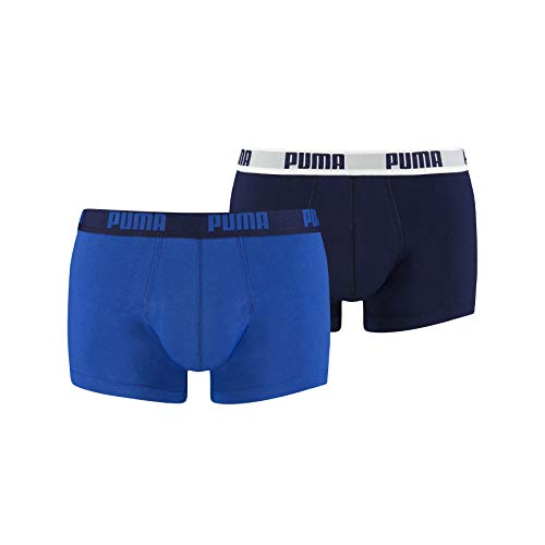 Puma Herren Bodywear Basic Shortboxer, 2er Pack, blau (True Blue), XL