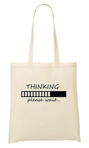 C+P Thinking Please Wait Funny Tragetasche Einkaufstasche