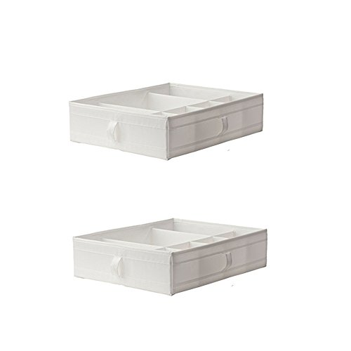 Ikea SKUBB Box with compartments, Chest of Drawers or Wardrobe Storage Organization Units for Pax (2, White)