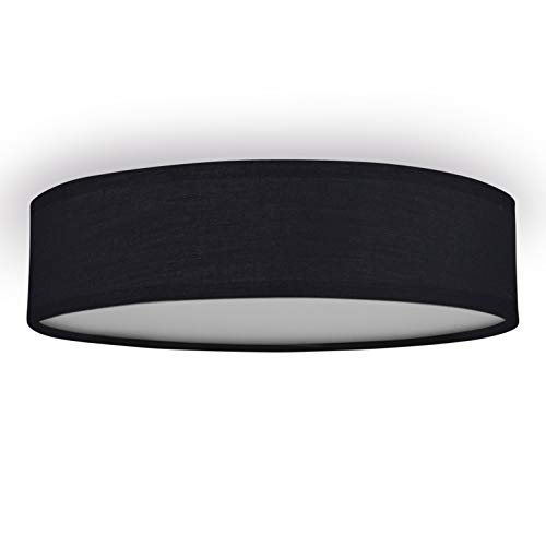 Smartwares 10.004.70 Deckenleuchte/ Textilschirm, 40 cm Ø, 3x E14, schwarz