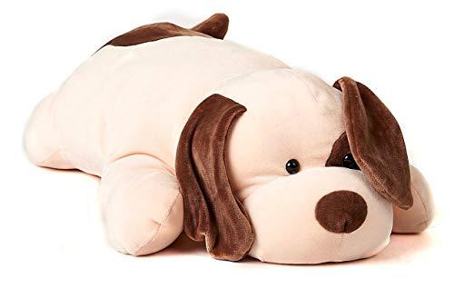 Uni-Toys - Kissen Plüsch-Hund (braun-beige), ultraweich - 60 cm (Länge) - Plüschtier, Kuscheltier KI-45768