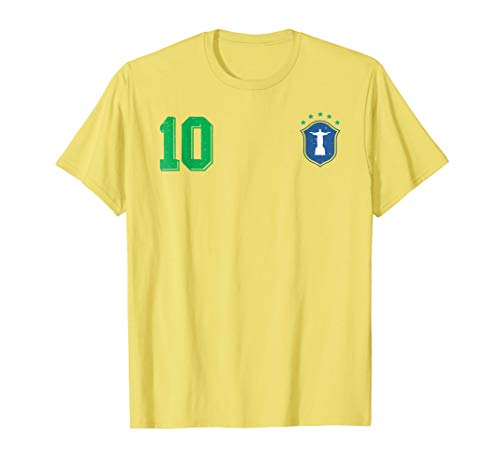 Retro Brazil Soccer Brazilian Futebol Jersey Brasil T-Shirt