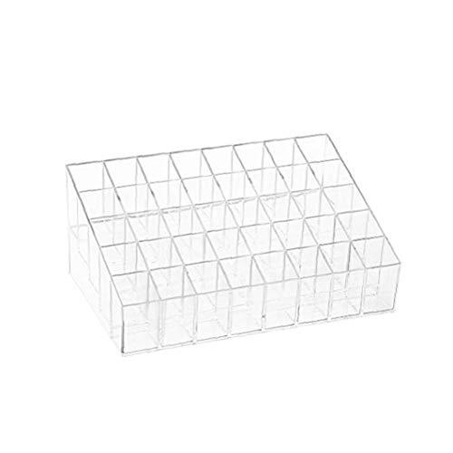Lippenstift-Halter 40 Spaces Plexiglas Lippenstift Organizer-Ausstellungsstand Kosmetik Make-up Tabelle Organizer für Lippenstift, Bürsten, Flaschen und mehr