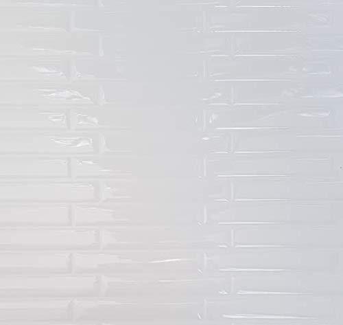 ELIKO - Azulejos adhesivos impermeables de 30,5 x 25 cm – LISTEL BLANCO (lote de 10)
