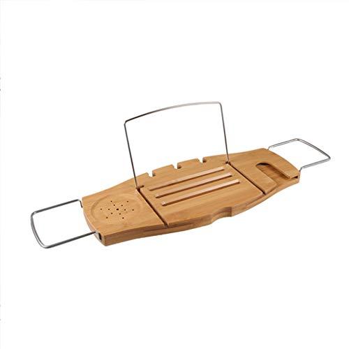 Badablage einstellbares Bad umweltfreundliche Rutschfeste, Bad-Tabelle für Tablet, Kindle, Smartphone, Buchrahmen, Weinglashalter, geeignet für die meisten Badewannengrößen