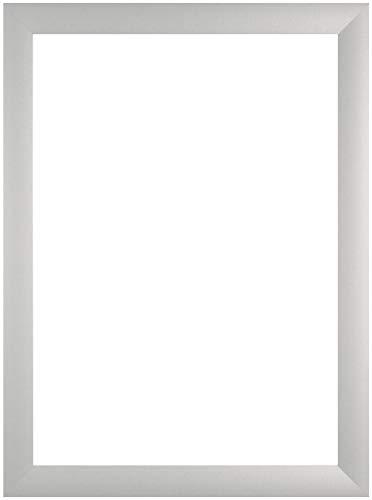 EUROLine35 mm Bilderrahmen für 90 x 60 cm Bilder, Farbe: Silber Matt, inkl. entspiegeltem Acrylglas und MDF Rückwand, Rahmen Breite: 35 mm, Außenmaß: 95,8 x 65,8 cm