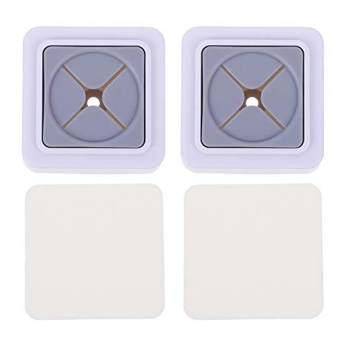 Cabilock 2 Piezas Ganchos de Soporte para Toallas de Mano Soportes de Toallas de Pared Accesorios de Baño Simple Percha de Toalla Redonda para Baño Cocina