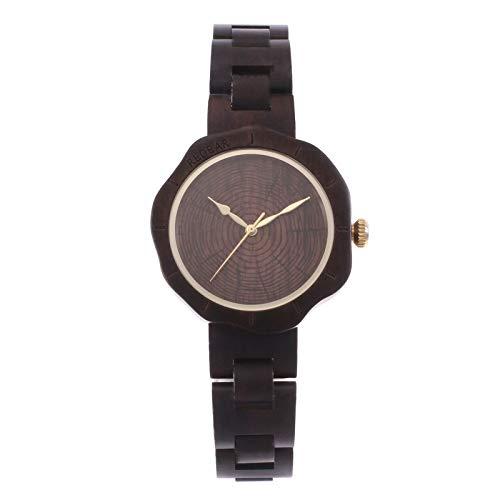 Zwbfu Reloj de para Mujer Reloj analógico de Cuarzo Sándalo Relojes Casuales Ligeros con Forma de Pedal Reloj de Pulsera Vintage