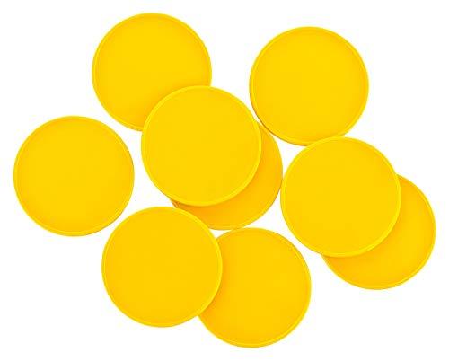 Pfandmarken Festivals Vereine ohne Druck viele Farben + Mengen, einsetzbar als Wertmarken Getränkemarken oder Essensmarken, Farbe:gelb, Größe:100 Stück