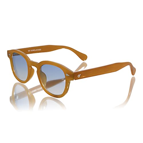 Generico Gafas de sol unisex – Adulto estilo Moscot – Lente ovalada degradada ahumada UV400 – Trend verano 2021 – OS SUNGLASSES