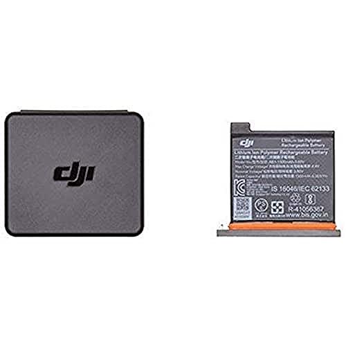 DJI Osmo Action Part 1 - Batería para Cámara DJI Osmo Action, Capacidad Máxima 1300 mAh, Instalación Fácil y Rápida, Caja de Contenedores para Baterías y Tarjeta MicroSD