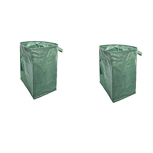 FJSC 2 Gartentaschen Unabhängig Voneinander Faltbare Starke Und Haltbare Gartentasche, Wiederverwendbare wasserdichte Tasche, Kann Sicher Bewegt Werden Und Unordnung Reduzieren 22 * 17 * 30 Zoll