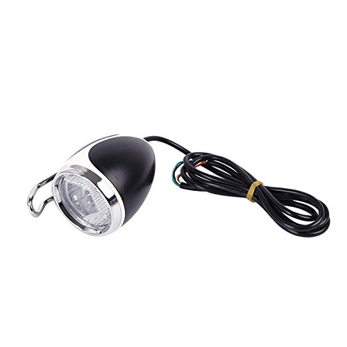 CUHAWUDBA Elektrisch fietslamp 24 V 36 V 48 V koplamp led met claxon voor elektrische fiets scooter bromfiets MTB driewieler