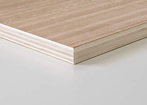 Tablero madera contrachapado 10 mm (A0 100 X 100 CM)(1 Und) Madera Abedul para Bricolaje, Manualidades-Ideal para Pirograbado, Corte por Laser, CNC Router