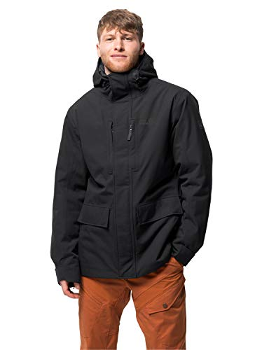 Jack Wolfskin Herren West Coast Jacket Wetterschutzjacke, black, M