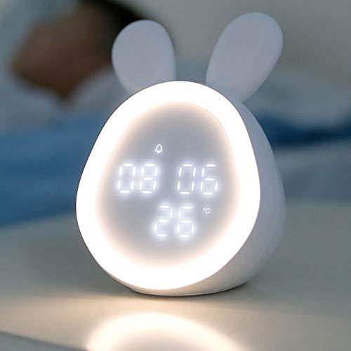 DAILYINT Multifuncional Creativo Digital Despertador Luz De La Noche Conveniente for El Dormitorio Sala Infantil Pequeño Despertador Electrónico Recargable Elegante Lindo Dormitorio Estudiante