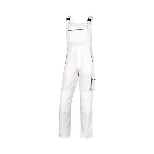 Delta Plus M6SALBCTPT Panostyle Arbeitslatzhose aus Polyester/Baumwolle, Weiß/Grau, Größe XS, 10 Stück