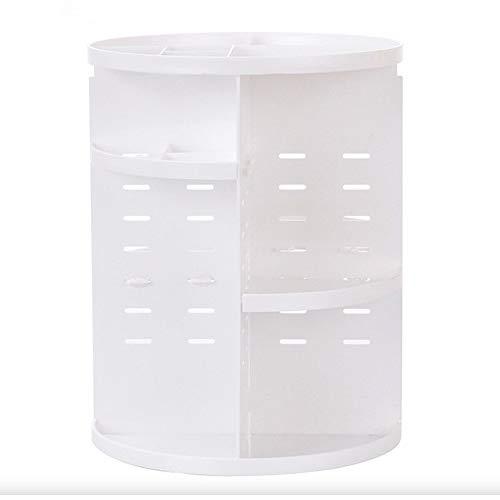 化粧品収納ボックス 化粧品入れ メイクボックス コスメ収納 アクセサリーケース 小物入れ 大容量 アクリル おしゃれ 仕切り 360回転式 母の日にプレゼント最適 (ホワイト)