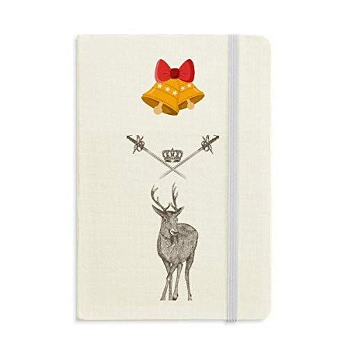 Elk Espada Corona Animal Barroco Estilo Cuaderno Diario mas Jingling Bell