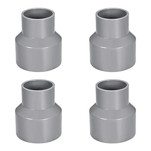 Carte de sourcing PVC DWV Réduction de couplage Calendrier 40 Gris 50 mm x 75 mm Douille 4 pcs