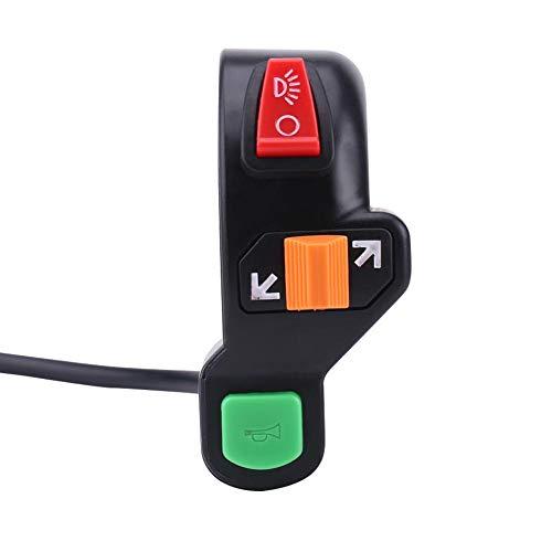 Interruptor del manillar de la motocicleta, 7/8 pulgadas 22 mm Bocina del faro de la motocicleta Interruptor de la luz de señal de giro Botón de encendido/apagado del manillar Accesorios de la motocic