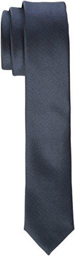 James Tyler schmal, handgefertigt Krawatte, Grau (Anthrazit), 5