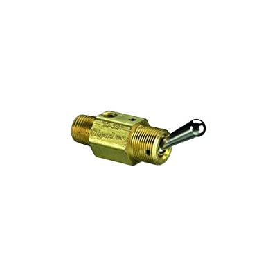 "Clippard TV-3SP, 3-Way Toggle Valve, NP Steel Toggle, 1/8"" NPT from Clippard"