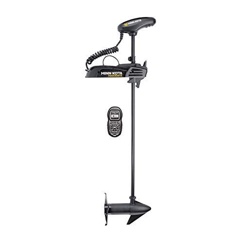 Review Minn Kota Power Drivee 55 54 Shaft Length 55 lbs Thrust 12V Trolling Motor with i-Pilot & Bl...