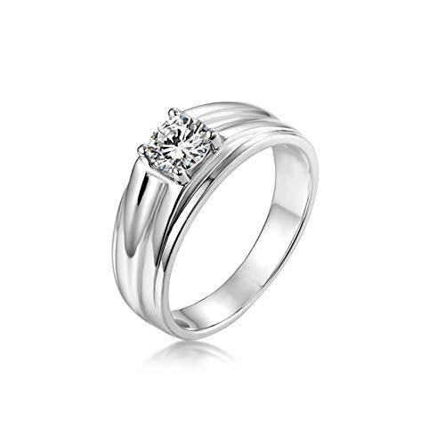 Ubestlove Damenring 585 4 Krallen Freundschaftsringe Verstellbar 0.8Ct Moissanit Damen Ringe Größe 50