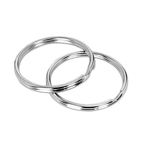 WINTEX llaveros, diámetro 25 mm, 100 piezas, redondeados, ideal para la organización de llaves, para manualidades, bricolaje y artesanías