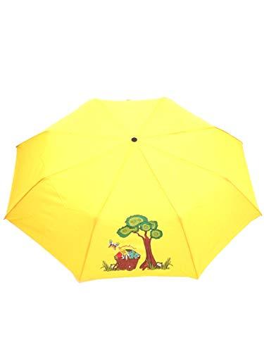 Braccialini ombrello donna, BC823 Mini Carretto, ombrello mini tre sezioni antivento, tessuto pongee, colore giallo