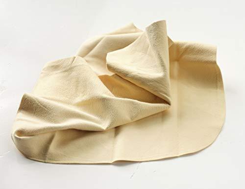 Profi Fensterleder in Premium-Qualität, ca 37 x 55 cm, olierleder, Ledertuch, Echt-Leder, 100% Chamois Leder, produziert in Neuseeland