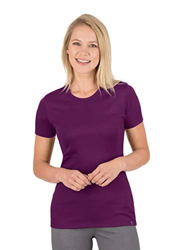Trigema Damen T-Shirt 502201_099, Gr.Large, brombeer