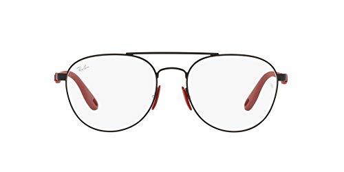 Ray-Ban 0RX6473M Gafas, Matte Black, 55 Unisex Adulto