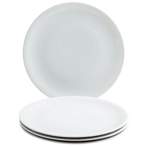 Kahla 32B135A90032C Update XL Porzellanteller Tafelservice für 4 Personen Tellerset Pizzateller weiß 31 cm rund 4-teilig groß Teller 4er Speiseteller Set