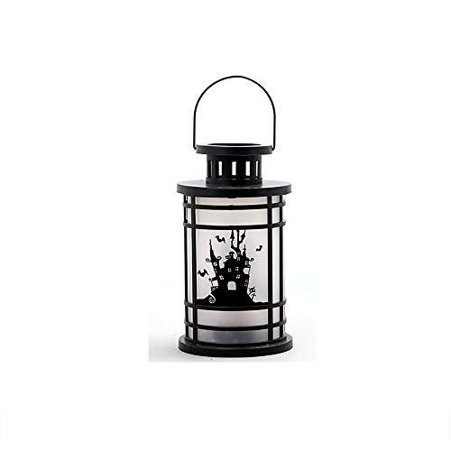 YGD Halloween-decoratieve lampen, draagbare straatlantaarns, geleiden kunnen de hangende gesimuleerde vlammen dragen, gebruikt voor Halloween, buitenverlichting