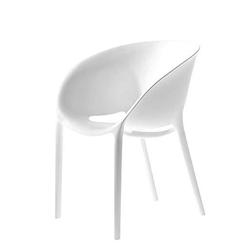 Driade - Silla con Forma de Huevo, Color Blanco