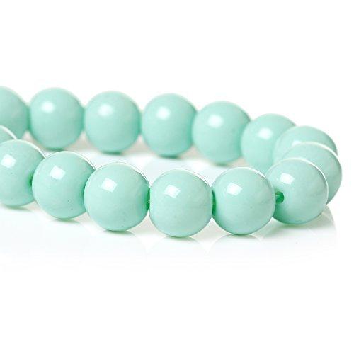 SiAura Materiale: perle di vetro 8 mm, blu, ca. 110 perline