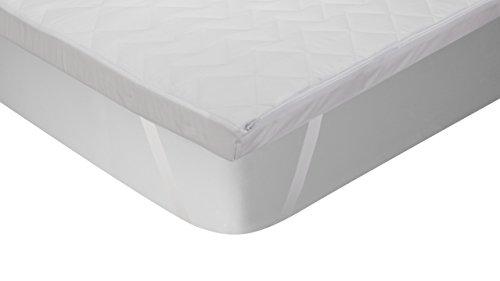 Classic Blanc - Topper/Sobrecolchón viscoelástico antialérgico (antiácaros, bacterias y moho). 135x190cm-Cama 135 (Todas las medidas)