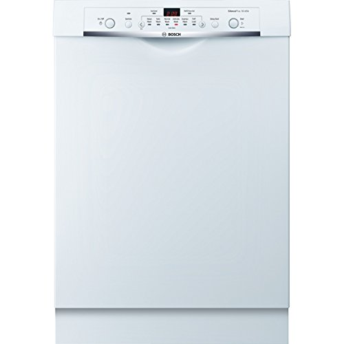 "Bosch SHE3AR72UC Ascenta 24"" White Full Console Dishwasher - Energy Star"