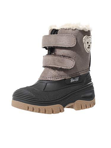 Steiff Knopf im Ohr - Kinder Schuhe Stiefel Winter Jungen Pauli mit Klettverschluss, Farbe:Braun, Größe:EUR 26