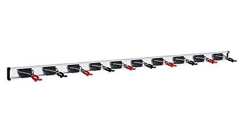 Bruns Universal Gerätehalter 100 cm schwarz inkl. 10 Halter Profi Geräteleiste Ausführung BigDean Black Red Editio