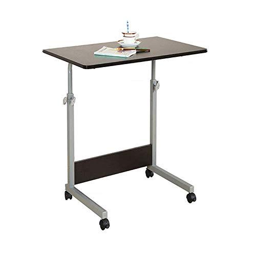 Verstellbarer Lap-Tisch Laptop-Schreibtisch, einfacher Kleiner Esstisch für zu Hause, höhenverstellbarer Beistelltisch für das Schlafsofa Krankenhaus Krankenpflege Lesung Essen 23,6 x 15,7 Zoll, wei