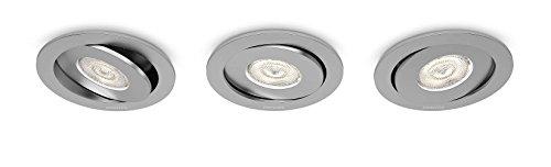 Philips 591834816 Asterope Luminaire d'Intérieur Spot Encastrable LED Métal Aluminium 4,5 W