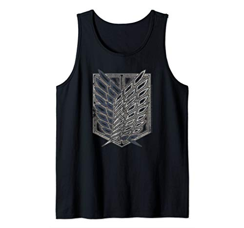 Attack on Titan Season 2 Distressed Scout Symbol Tank Top